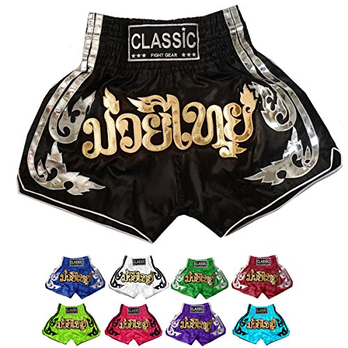 Classic-Muay-Thai-Kick-Boxing-Shorts-Power-of-Muay-Thai