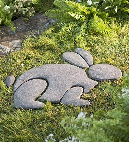 Decorative Stones Rabbit Garden Accent Home Stepping