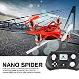 GizmoVine-MINI-RC-Quadcopter-Drone-24G-4-Channels-6-Axis-RTF-Helicopter-with-Headless-Mode-and-Easy-Return-Mode-Best-Gift-for-Children-Teenagers-Colour-Red