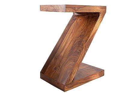 Tavolino - Z - Sheesham legno naturale 45cm - posizione verticale o trasversale