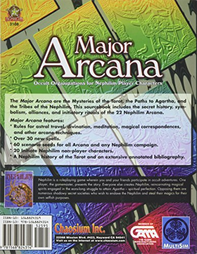 Major Arcana: Occult Organizations for Nephilim Player Characters