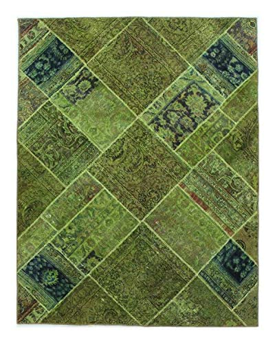 Bashian Rugs Hand Knotted Patchwork, Multi, 4' 1 x 6' 3