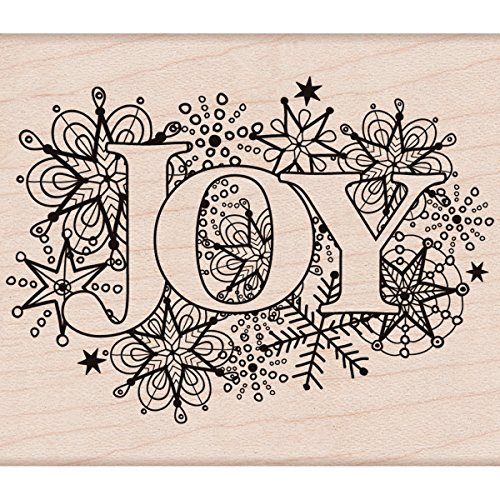 "Hero Arts Joy Burst Mounted Rubber Stamp, 2.75"" by 3.25"""