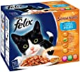 Felix Sensations Fish Steaklets in Jelly 12 x 100 g (Pack of 4, Total 48 Pouches)