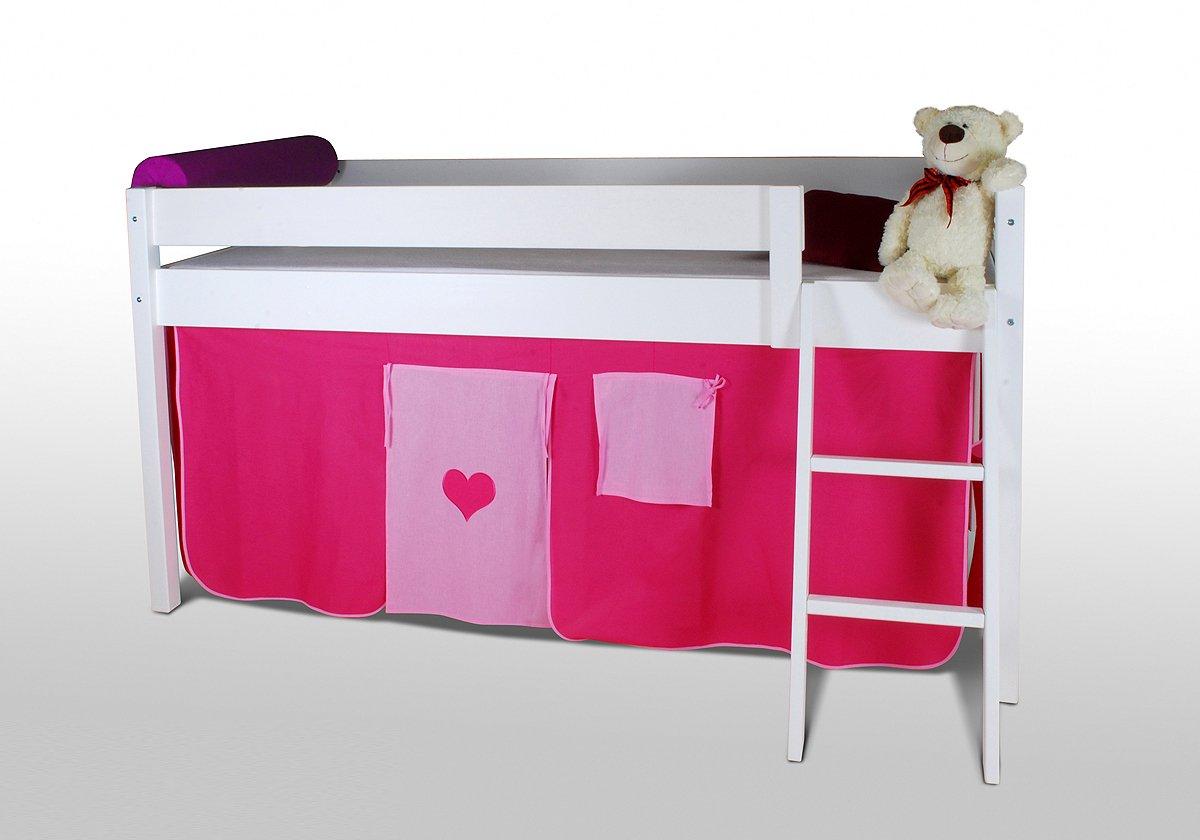 Vorhangset – HERZ – für Hochbet Spielbett Etagenbett kaufen