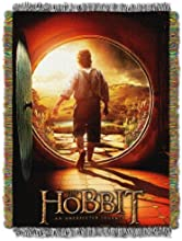 The Northwest Company Warner Brothers Acrylic Tapestry Throw 48 by 60-Inch The Hobbit First Journey