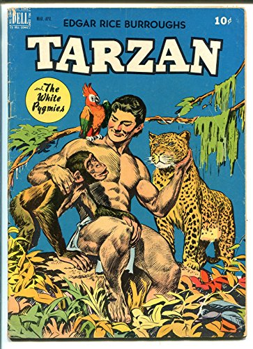 TARZAN #8 1949-DELL-WHITE PYGMIES-JESSE MARSH-NATIVE WARRIOR BACK COVER-vg+