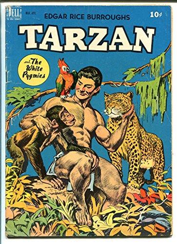 TARZAN # 8 1949-DELL-WHITE PYGMIES-JESSE MARSH-NATIVE WARRIOR BACK COVER-vg+