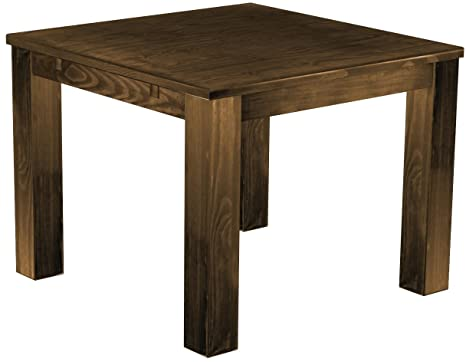 Brasil 'Rio' 100 x 100 cm, Antique Pine Wood Tone Oak Furniture Dining Table