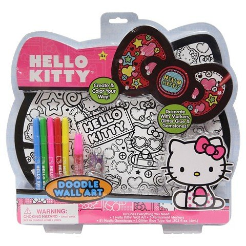 Hello Kitty Doodle Wall Art