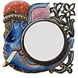 Ghanshyam Art Wood Elephant Wall Mirror (30.48 Cm X 4 Cm X 30.48 Cm, GAC099)