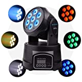 Betopper 7x8W LED Spot Stage Light DMX 512 Professional Mini Moving Head Lighting 4 in 1 RGBW Strobe Effect 9/14 Channels for Restaurant,Club,Wedding,Home Party (Color: BT70)