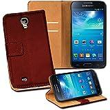 OneFlow PREMIUM - Book-Style Case im Portemonnaie Design mit Stand-Funktion - für Samsung Galaxy S4 (GT-i9500 / GT-i9505 LTE) - BURGUNDERROT