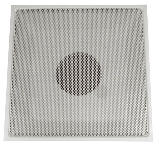 Speedi-Grille TB-PRA 10 24-Inch by 24-Inch White Drop Ceiling T-Bar Perforated Face Return Air Vent Grille with a 10-Inch Collar (Drop Ceiling Return Vent compare prices)