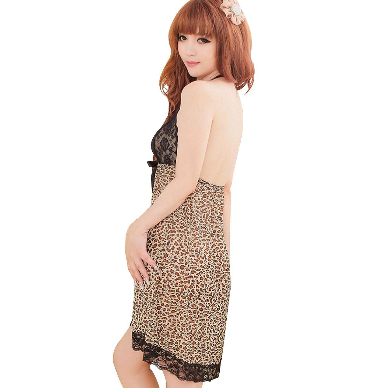 Deercon Frauen-reizvoller Leopard-W?sche-Kleid-Nachtw?sche Babydoll-Nachtw?sche günstig online kaufen