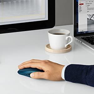 Logitech MX Anywhere 2S Wireless Mouse - Use on Any Surface, Hyper-Fast Scrolling, Rechargeable, Control up to 3 Apple Mac and Windows Computers and Laptops (Bluetooth or USB), Midnight Teal (Color: Midnight Teal, Tamaño: MX Anywhere 2S)