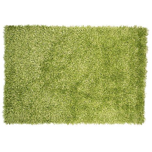 Flair Spider Teppich, zottelig, rechteckig (110cm x 160cm) (Limettengrün)