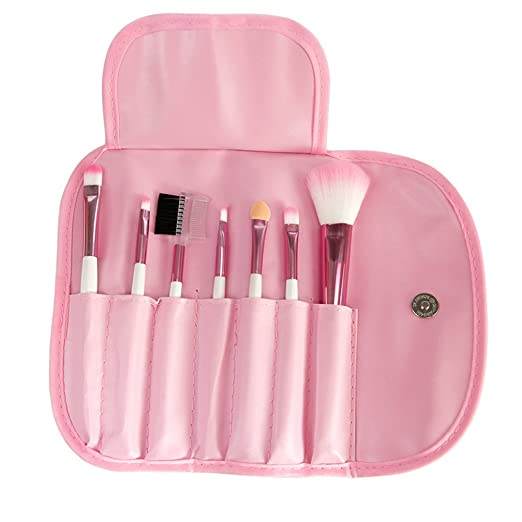Lisli® 7pcs Professional Cosmetic Makeup Brush Set Power Blush Eyeshadow Eyebrow Lip Brushes (Pink)