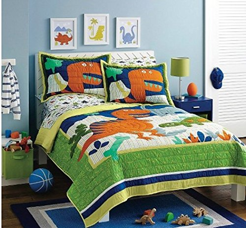 Circo Dinosaur Dino Friends High Quality Quilt (Full/Queen Quilt + 2 Shams) (High Quality Quilts compare prices)