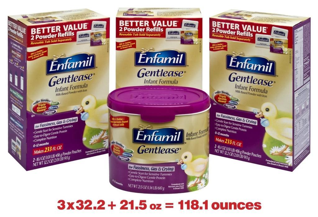 Amazon.com: Enfamil Gentlease Infant Formula Milk-Based ...