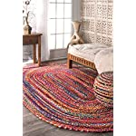 nuLOOM Casual Handmade Braided Cotton Oval Area Rug, 7 x 9