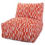 Majestic Home Goods Sticks Bean Bag Chair Lounger, Salmon