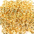 AlphaAcc Gold Plated Round Open Jump Ring 3mm 4mm 5mm 6mm 7mm 8mm (3mm - 500pcs)