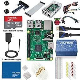 Vilros Raspberry Pi 3 Ultimate Starter Kit--Clear Case Edition