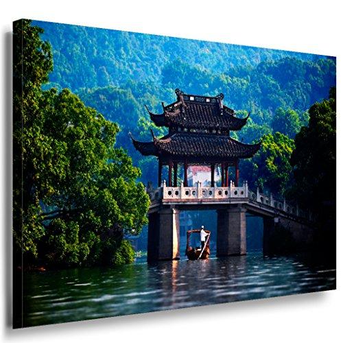 china-fluss-brucke-gebaude-leinwandbild-laraart-bilder-mehrfarbig-wandbild-100-x-70-cm