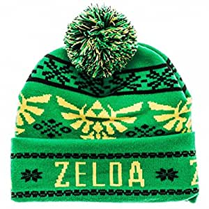 Zelda Hat Knitting Pattern : Amazon.com: Legend of Zelda TRIFORCE Green Fair Isle ...