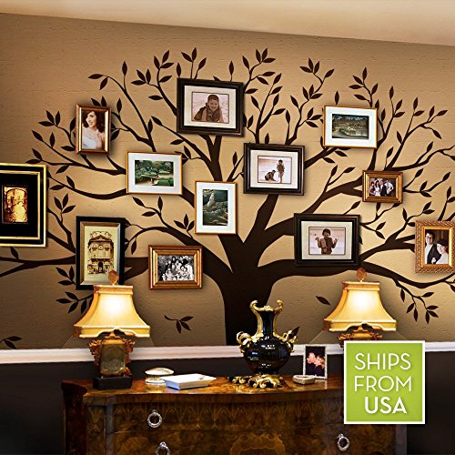 Family Tree Wall Decal by Simple Shapes (Chestnut Brown, Small Size : 95