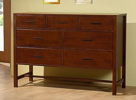 Bello Walnut Cherry 7-drawer Chest Wood Contemporary Dresser Storage