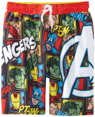 Marvel Little Boys' Juvi Swim Avengers Collage Swim Trunk