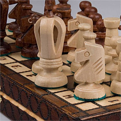 Chess Royal 30 European Wooden Handmade International Set, 11.81 x 1.97-Inch 3