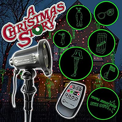'A Christmas Story' Red and Green Motion Premium Holiday Laser Light Projects 7 iconic images including, Leg Lamp, Ralphie in Bunny Suit In Full Motion