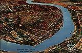 Mississippi River Crescent New Orleans, Louisiana Original Vintage Postcard