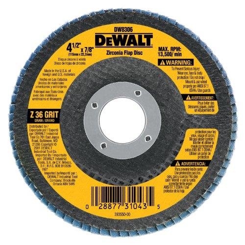 DEWALT DW8312 4-1/2-Inch by 5/8-Inch-11 60 Grit Zirconia Angle Grinder Flap Disc (Dewalt Air Grinder compare prices)