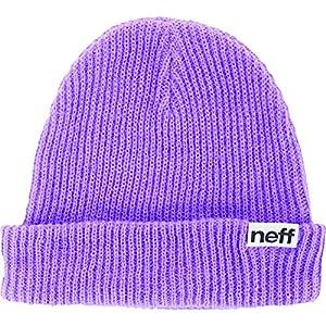 Neff Fold Beanie Hat - Neon Purple, One Size