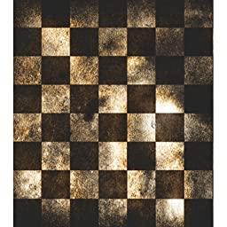 Photography Weathered Checkered floor Drop Background Mat Cf826 Rubber Backing, 4\'x5\' High Quality Printing, Roll up for Easy Storage Photo Prop Carpet Mat (Can Be Used for Decorating Home Also)