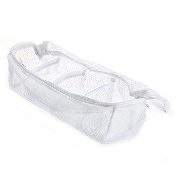 stosto 2pcs blanc blanc filet linge sac protection chaussettes chaussettes lavage. Black Bedroom Furniture Sets. Home Design Ideas