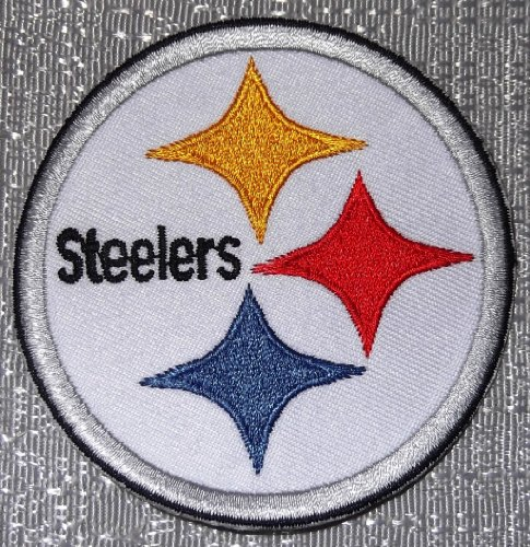 "NFL Football Pittsburgh STEELERS Logo Crest 3"" Embroidered PATCH at Amazon.com"
