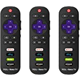 IKU RC280 Standard IR Remote Replacement for TCL Roku Smart TV with Updated 4 Shortcuts (3-Pack, TCL w/Amazon) (Tamaño: 3-Pack, TCL w/ Amazon)