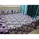 JMT(100% Heavy Stuff Pure Cotton Double Bedsheet With 2 Pillow Cover,size -230x250 Cms, Pillow - 69x46 Cms) - B074D362DD