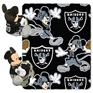 Oakland Raiders Mickey Mouse Pillow / Throw Combo