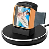 Compatible with Fitbit Ionic Charger, EPULY Compatible Fitbit Ionic Accessories Women Men Charging Stand/Dock/Station/Holder/Cradle 3 Feet Charging Cable Compatible Fitbit Ionic Smartwatch Black (Color: Black)