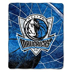 NBA Dallas Mavericks 50-Inch-by-60-Inch Sherpa on Sherpa Throw Blanket Reflect Design by Northwest