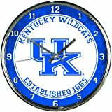 NCAA Kentucky Wildcats Chrome Clock