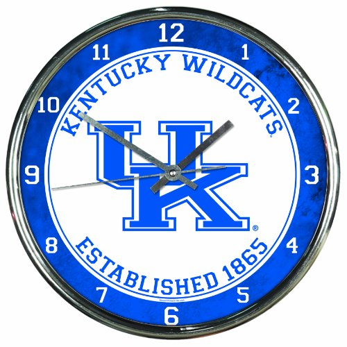 NCAA Kentucky Wildcats Chrome Clock