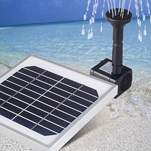 Magicfly 3W Submersible Solar Powered Garden Pond Waterfall Fountain Pump Solar Panel Pump