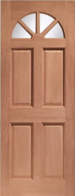 External Hardwood M&T Single Glazed Carolina Door with Clear Glass